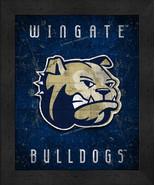 "Wingate Bulldogs ""Retro College Logo Map"" 13x16 Framed Print  - $39.95"