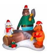 "77"" Woodland Critters Scene Airblown Inflatable - Enchanted Forest - $88.19"