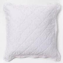 NEW! Simply Shabby Chic Crochet Lace Linen-Blend White EURO Pillow Sham ... - $19.79