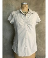 Women OMNI SHADE SHIRT Sun Protection Columbia Khaki Short Sleeve Top M ... - $28.90