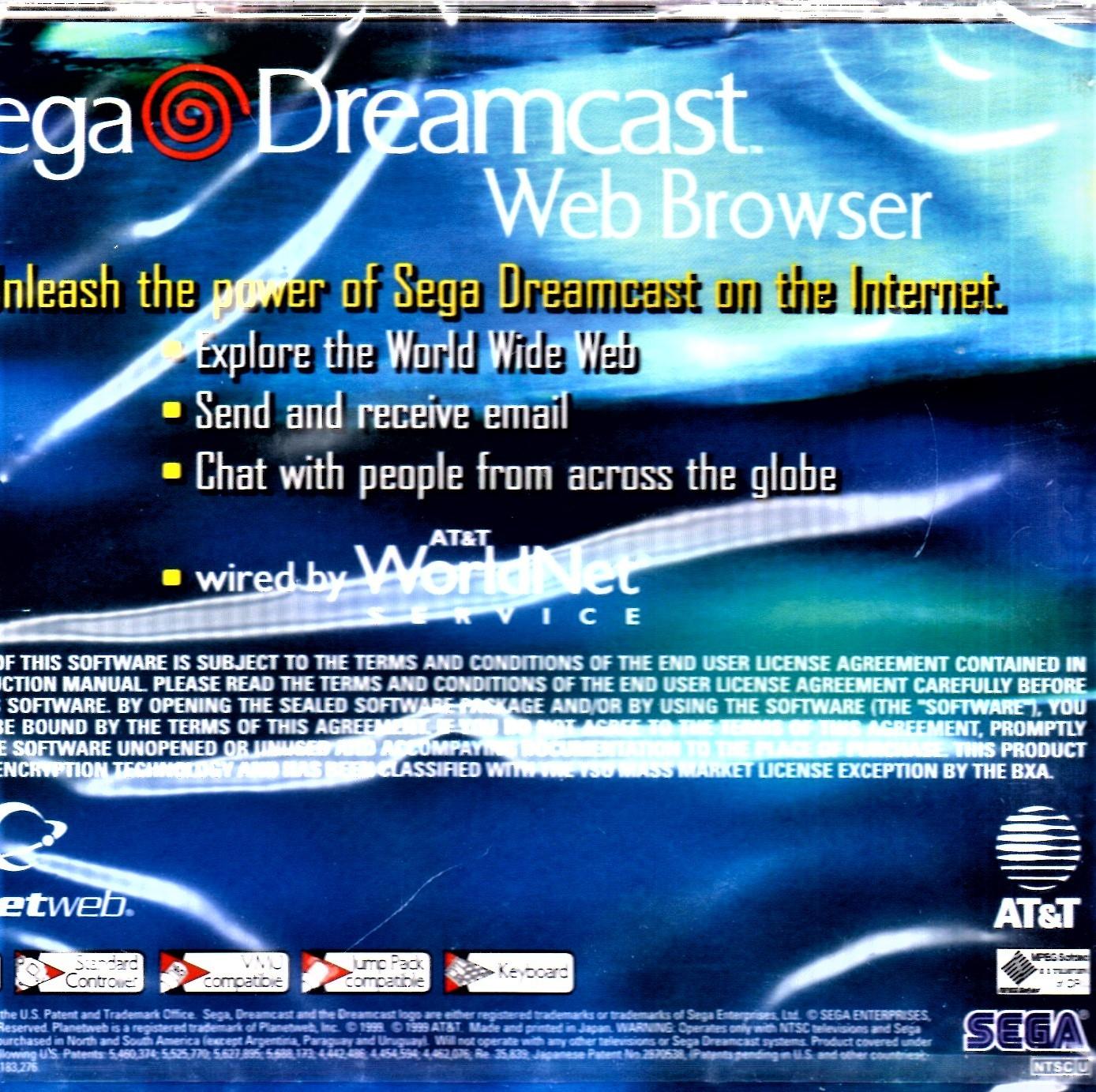 SEGA Dreamcast Web Browser - New Factory Sealed