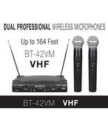 Boytone BT-42VM Dual Channel Wireless Microphone System - VHF Fixed Dual... - $110.77