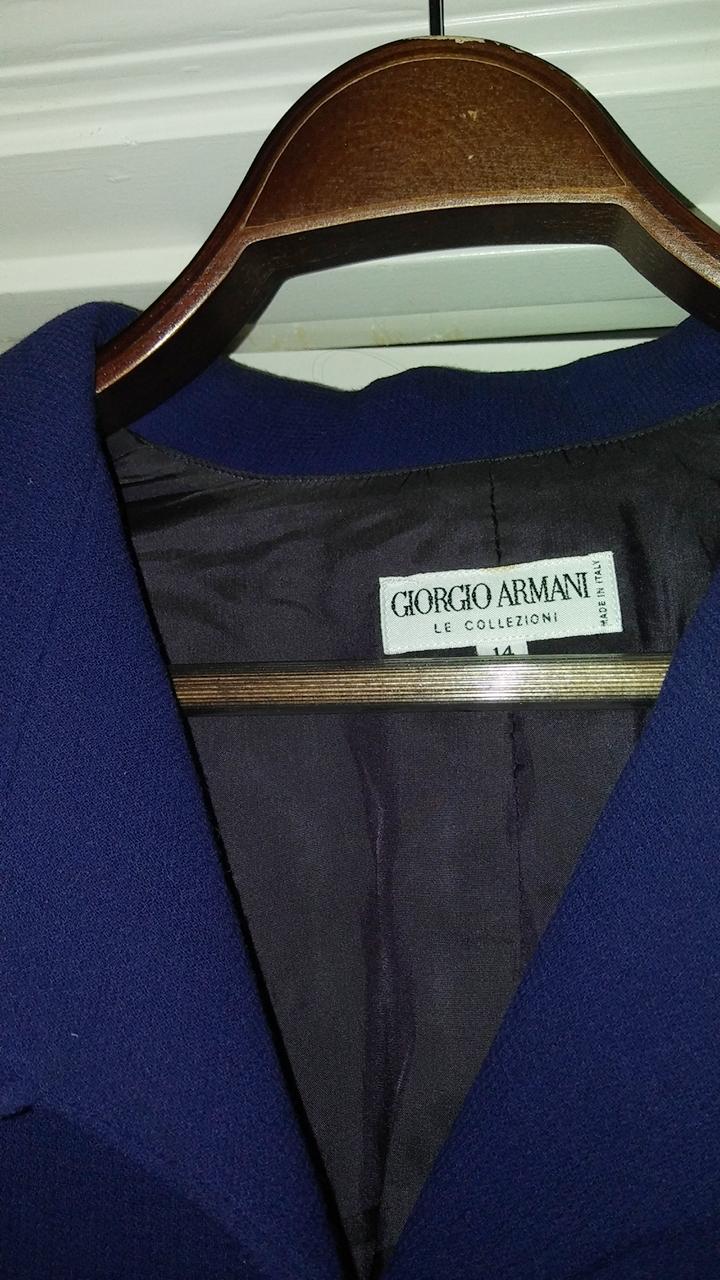 Gorgeous Giorgio Armani Womens coat - Blue Size 14 - Neiman Marcus