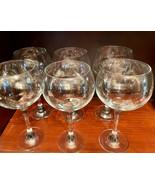 """Tall Clear Glass Wine..Margarita ...Glasses (6)  9"""" Tall x 4-1/2""""  FIRM  Crystal - $37.00"""