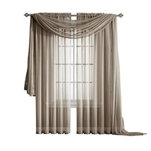 Warm Home Designs Pair of Long Length Taupe Sheer Window Curtains. Each ... - $16.53