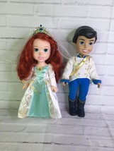 "Disney Little Mermaid Wedding Bells Prince Eric Princess Ariel 14"" Toddl... - $42.07"
