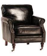 Stunning Soft Top Grain Black Leather Club Chair ,29'' x 31''H. - $1,579.05