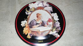 VINTAGE 1987 COKE TRAY VICTORIAN LADY/FLORAL DETAILS 1899 HILDA OHIO ART... - $14.84