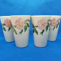 4 Vintage California Franciscan Desert Rose Tumblers Glasses Excellent Condition - $28.71