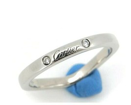 Cartier Ballerina Diamond Ring PT950 Used Excellent condition US4.5 Women  - $558.54