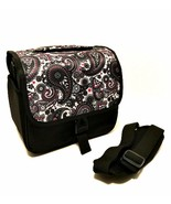 Camera Bag Black White Paisley Print Adjustable Shoulder Strap 9 inches ... - $23.76