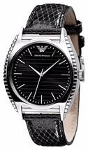 Emporio Armani Unisex Classic Leather Strap Watch AR0765 BNIB - $99.75