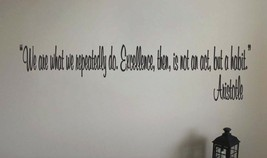 Aristotle Inspirational Teacher Classroom Quote Vinyl Sticker Decal  - $14.99+