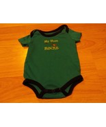 Infant Size 0-3 Months Kidgets Teal One-Piece Creeper My Mom ROCKS Guita... - $7.00