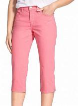 NYDJ Petite Enge Passform Capri Kurze Jeans, Pink Blumenblatt, 0P - $49.49
