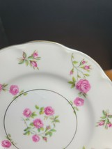 Theodore Haviland Delaware Bread Plate White with Pink Flowers USA (1) - $4.94