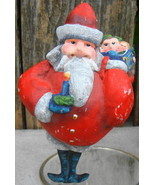 Santa w Bag Toys Christmas Ornament - £9.88 GBP