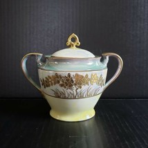 Vintage Lusterware Sugar Bowl with Lid Luster Ware Made in Japan Gold Mo... - $29.99