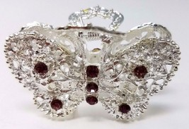 Ladies Hair Accessories, Jaw Hair Clip with Rhinestones, Color Silver an... - €5,36 EUR