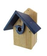 Post Mount Cedar Wren House w/ Blue Poly Roof & Birdhouse Predator Guard... - $29.85