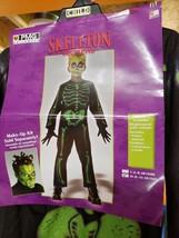 Halloween Skeleton Children's costume, Size M (8-10), jumpsuit - $3.99