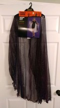 Halloween Spider Web Cape Hooded Costume Purple Totally Ghoul One Size - $18.92