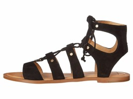 Dolce Vita Jasmyn Black Women's Lace Up Suede Gladiator Sandal - $76.95