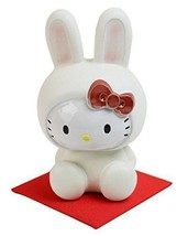 Shigaraki Hello Kitty Rabbit porcelain Pottery Figurines Plush doll JP NEW - $118.38