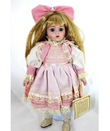 "Dynasty Doll Collection Maria Porcelain 16"" Tags & Stand - $39.59"