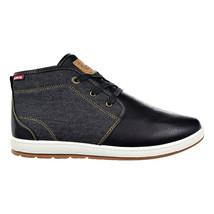 Levi's Ace Millstone Denim Mens Shoes Black 517939-01a - $44.95