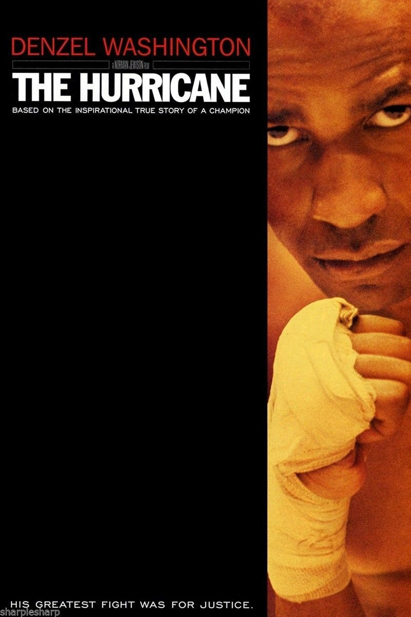 New THE HURRICANE Movie POSTER 11x17 Denzel Washington as Boxer Rubin Carter