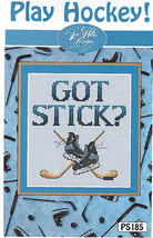 Play Hockey Post Stitches cross stitch chart Sue Hillis Design - $5.40