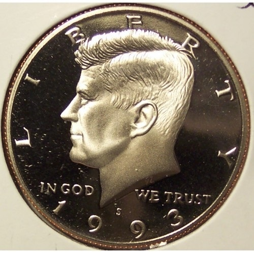 Primary image for 1993-S Deep Cameo Proof Kennedy Clad Half Dollar #0907