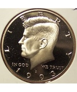 1993-S Deep Cameo Proof Kennedy Clad Half Dollar #0907 - $6.79