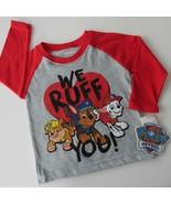 "Paw Patrol Raglan Long Sleeve T-Shirt ""We Ruff You"" Baby 12Mos Nickelodeon NWT - $9.88"