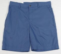 Greg Norman Natural Performance Blue Flat Front Golf Shorts Men's NWT - $52.49
