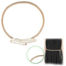 Gold Mesh Ladies Waist Chain Belt Metal For Western Outfits Dresses Part... - $9.28