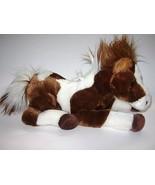 Aurora Brown White Pinto Pony Horse Plush stuffed Animal Toy Realistic 1... - $12.75