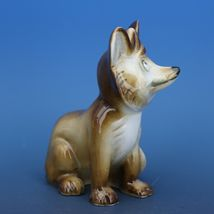 Vintage Zsolnay Hungary Hand Painted Brown Fox Porcelain Figurine image 3