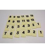 Rummikub Tile Lot 54 Red Black Joker Numbered Tiles Parts Craft Pieces - $7.99