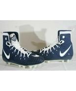 Nike Force Savage Elite TD Men 18 Football Cleats Navy/White NWT FREE SOCKS - $33.28