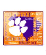 NCAA Clemson Tigers Embossed Fan Cloud Sign 12 x 14 Metal Man Cave Dorm ACC - $17.77