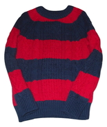 Gap boys blue red stripe sweater thumbtall