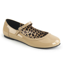 PLEASER Cream Ballet Flats Mary Jane Women's Shoes Large SIZES ANNA02/CR - $40.95