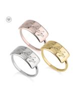 ENGRAVED BAR NAME RING: STERLING SILVER, 24K GOLD, ROSE GOLD - $123.49