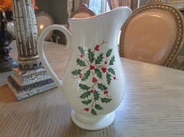 "LENOX AMERICAN BY DESIGN LARGE HOLIDAY PITCHER 10.75"" NEW WITH STICKER  - $34.60"