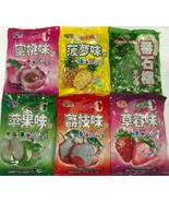 8 Bags, Pineapple Peach Strawberry Lychee Guava Green Apple Hard Candy 1... - $42.99