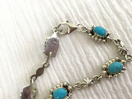 Native American 5.67 Ct Turquoise Bracelet White Gold Finish Solid 925 S... - $95.00