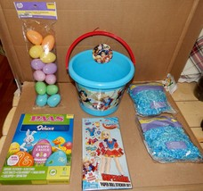 Easter Mix Lot 6 Items Super Girl Plastic Basket Paper Grass & Eggs Dye 163K - $12.49
