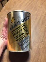 Very Rare 1960s Vintage Kan-o-Gold Cardboard 1 Qt Motor Oil Can EXC empty - $59.35